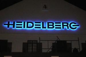 Signkor built Heidelberg Signage