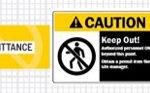 Admittance Signage